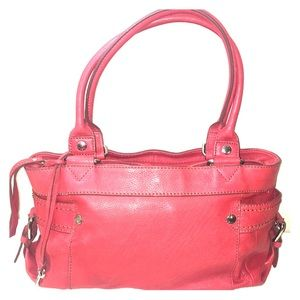 ✨Fossil Red Pebbled Leather Bag ✨